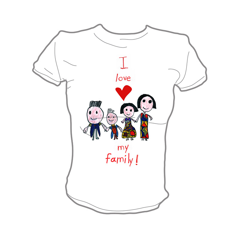 I love my Family Shirt design by Janna