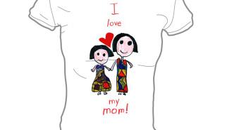 I love Mommy T-shirt by Janna