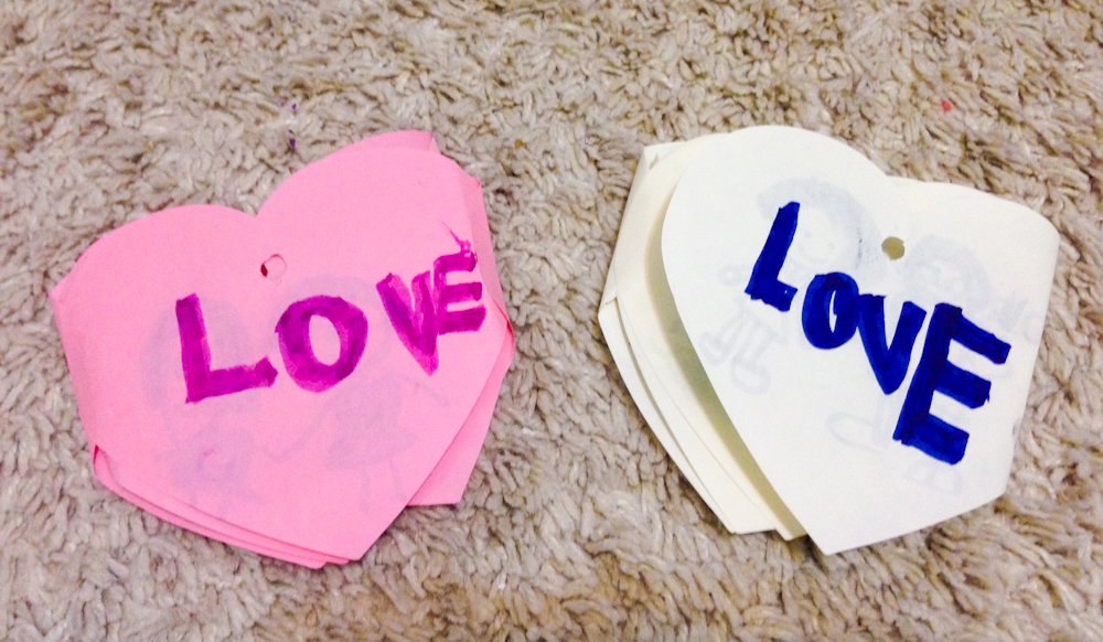 Folding Cards made by Janna for her Daddy and me!