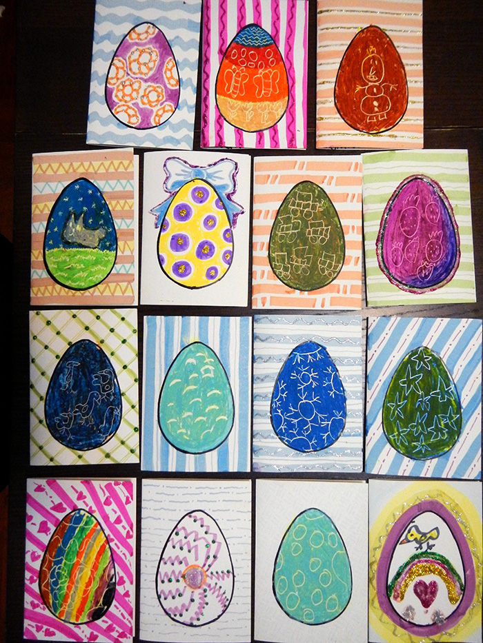 The Easter cards