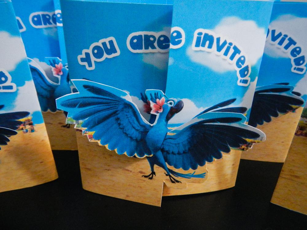 Rio themed invitation cards